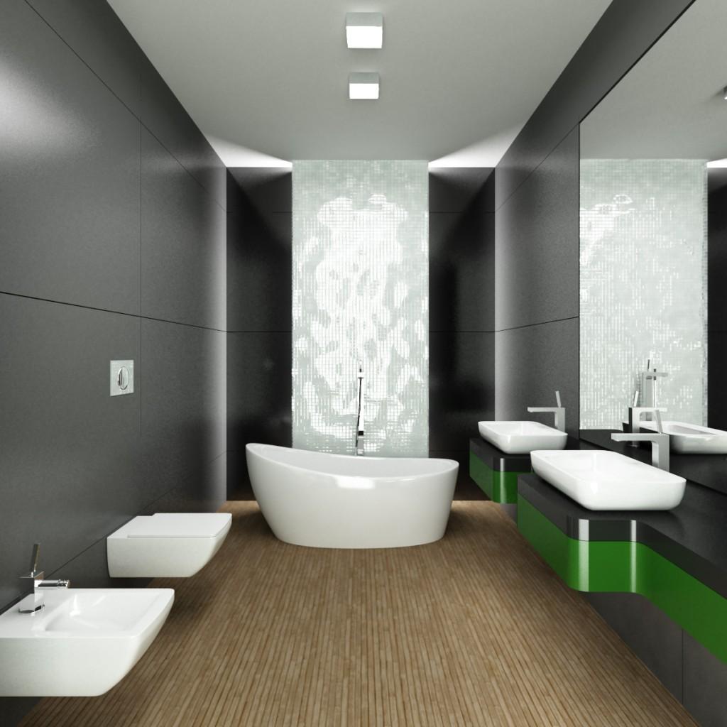 wnętrza apartamentu, łazienka w apartamencie