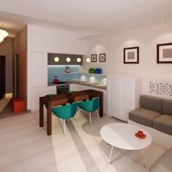 mieszkanie salon z aneksem