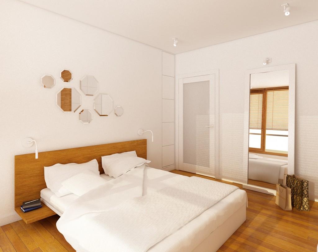 aranżacja wnętrza mieszkania, nowoczesna sypialnia