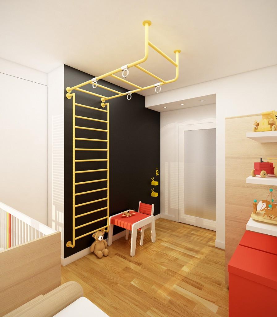 aranżacja wnętrza mieszkania, pokój dziecięcy
