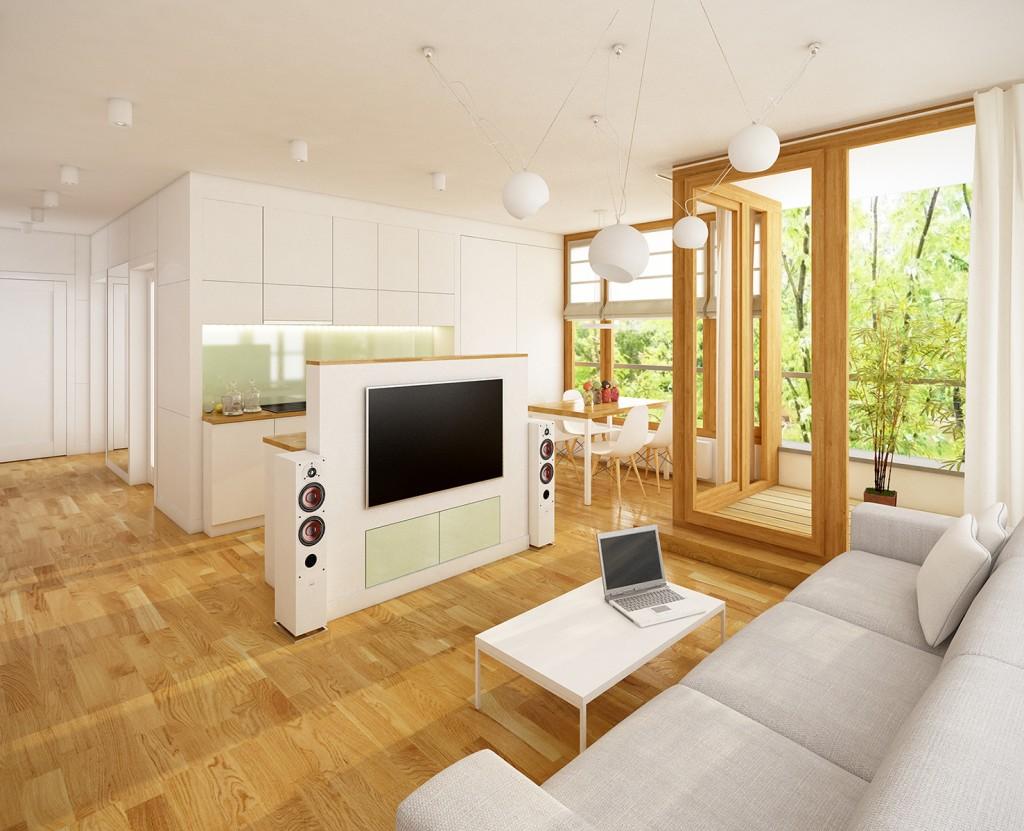 aranżacja wnętrza mieszkania, wnetrze salonu